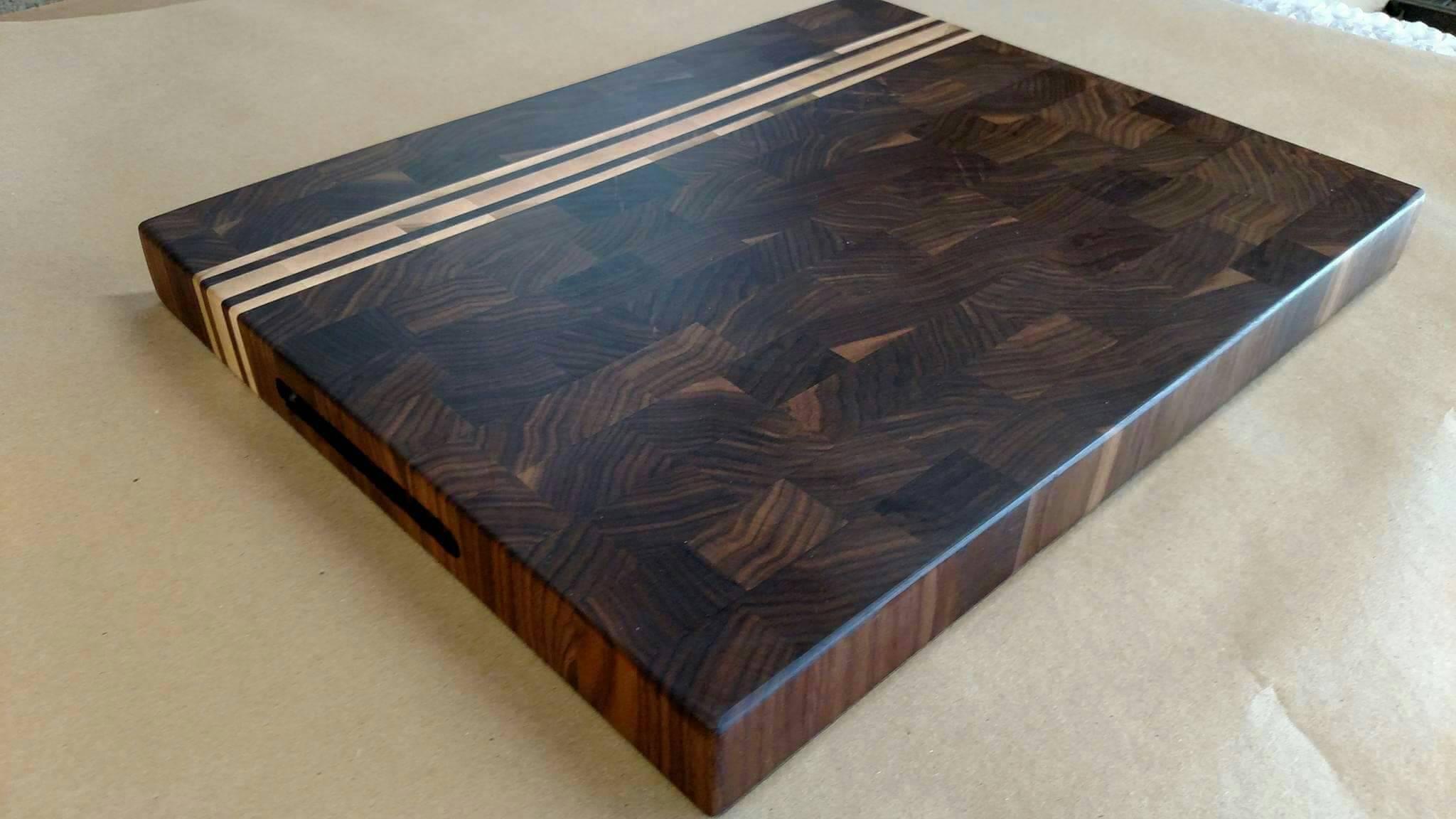 Black walnut Edge Grain cutting board.